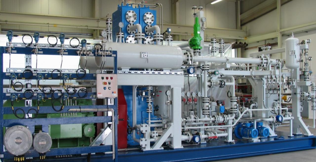 Kugelhahn für Kreisgasverdichteranlage